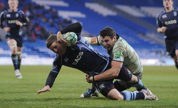Cardiff Blues 18 Northampton Saints 23